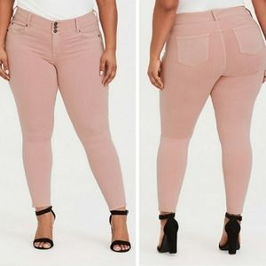 Torrid Blush Pink Jeggings Size 14R